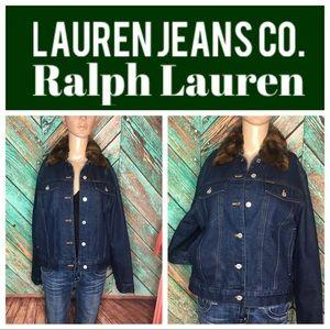 Faux Fur Lauren Jeans Co. Ralph Lauren Jacket